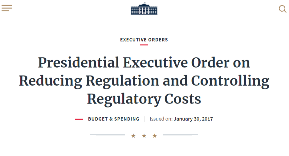 Executive Order on Regulation Reduction